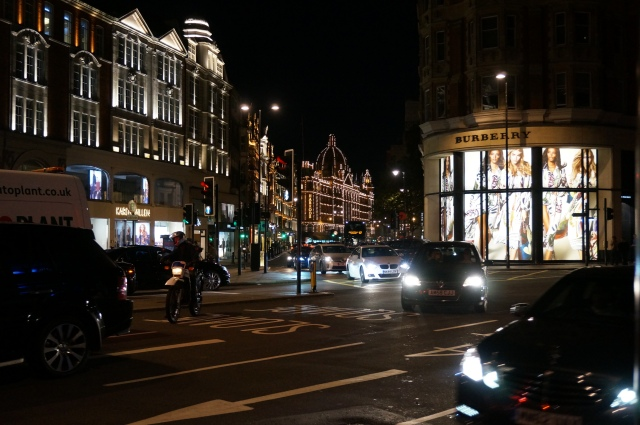 Harrods (the building all lit up!)