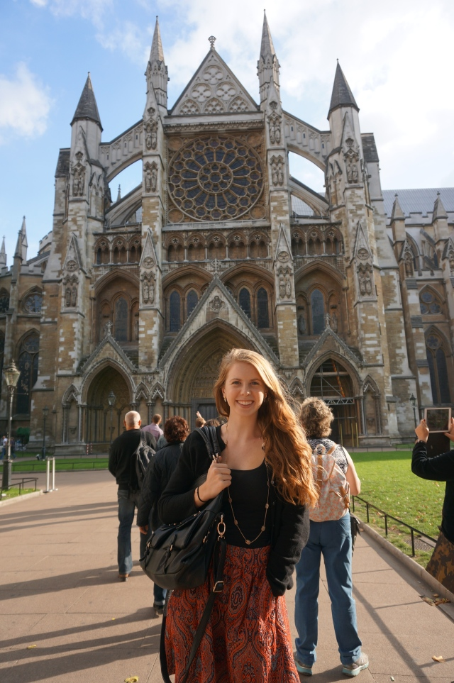 In front of Westminster Abbey