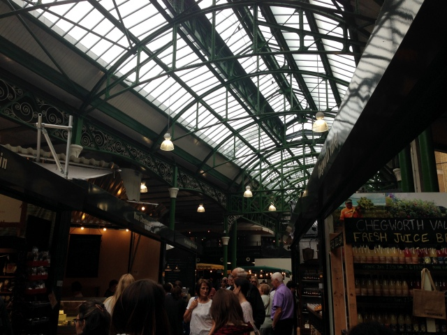 Inside the market.