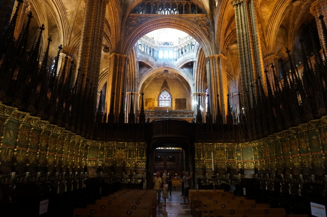 Seats for bishops in La Catedral.