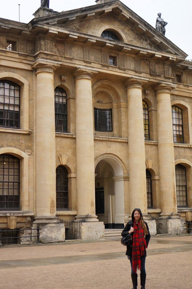 Me in the Bodleian courtyard.