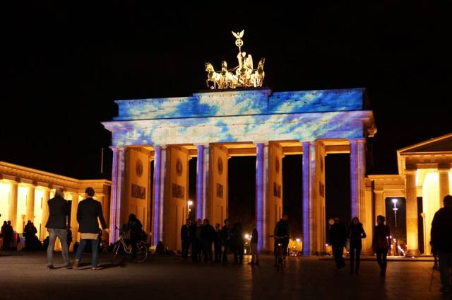 The Bradenburg Gate during the Festival of Lights