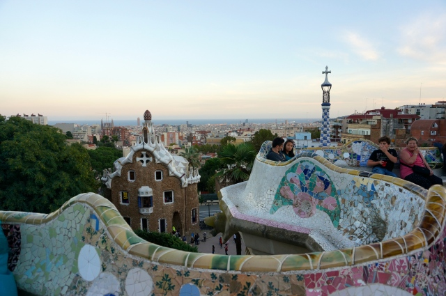 My favorite view of Barcelona- Parc Guell
