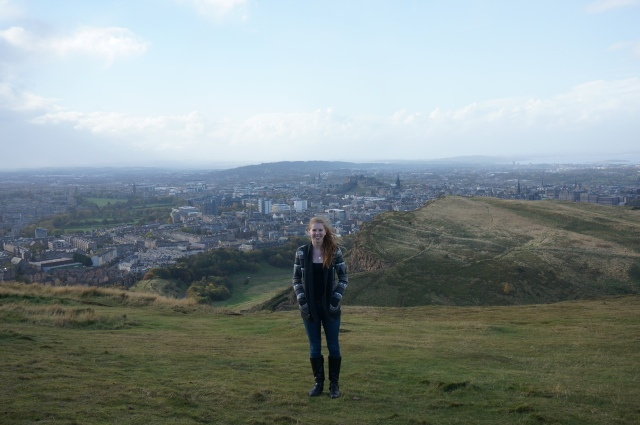 Me on the top of Arthur's Seat