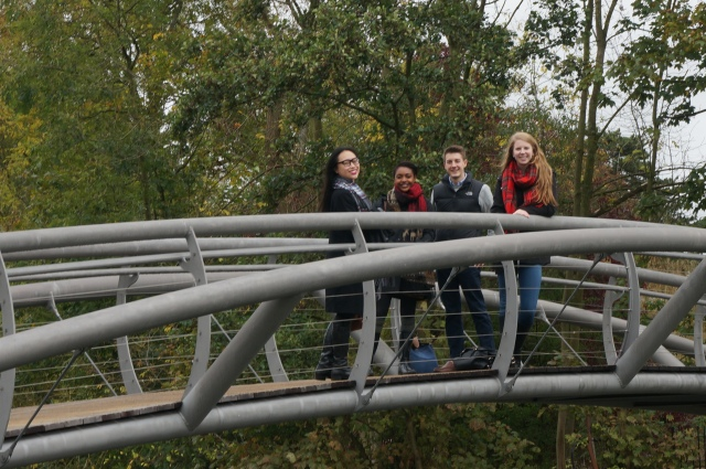 Me and some friends on a bridge in Oxford.