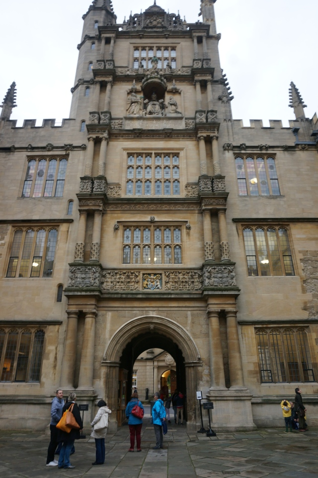 Bodleian Library courtyard.