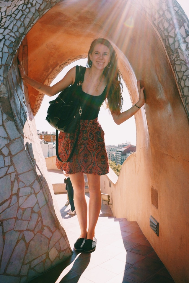 On the roof of La Pedrera