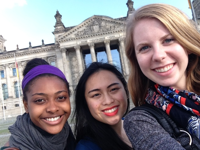 Courtney, Vanessa, and me outside the Reichstag
