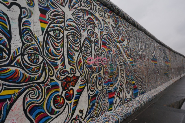A section of the Berlin Wall (hopefully I'll be able to recover some more pictures of the wall).