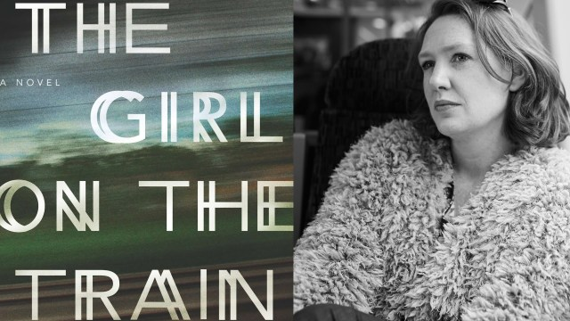 (left) The book cover. (right) Author Paula Hawkins.